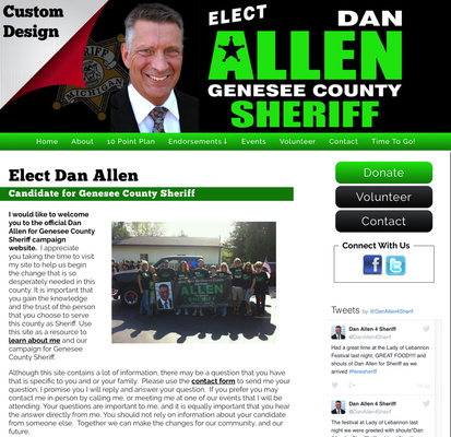 Elect Dan Allen Candidate for Genesee County Sheriff