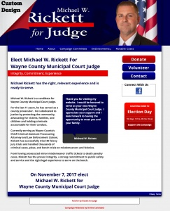 Michael W. Rickett For Wayne County Municipal Court Judge