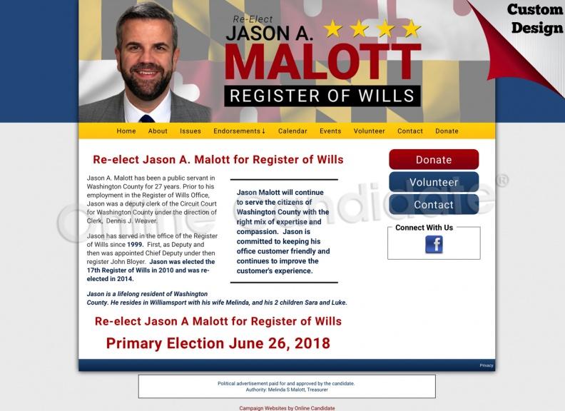 Jason A. Malott for Register of Wills