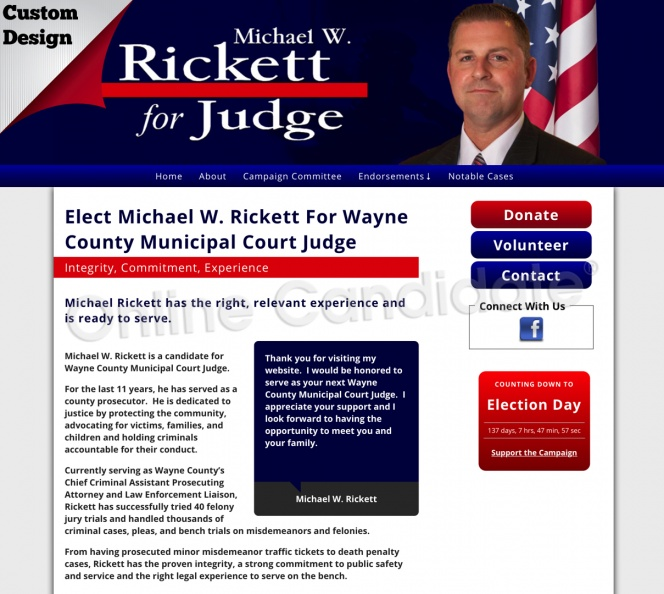 Michael W. Rickett For Wayne County Municipal Court Judge Integrity