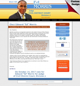 "Edward ""Ed"" Morris Candidate for Judge of Civil District Court, Division J."