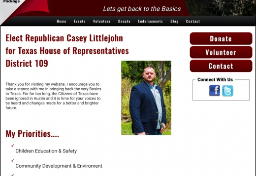 Casey Littlejohn FOR Texas State Representative District 109