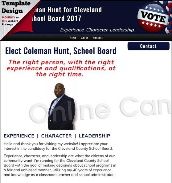 Elect Coleman Hunt for Cleveland County School Board.jpg