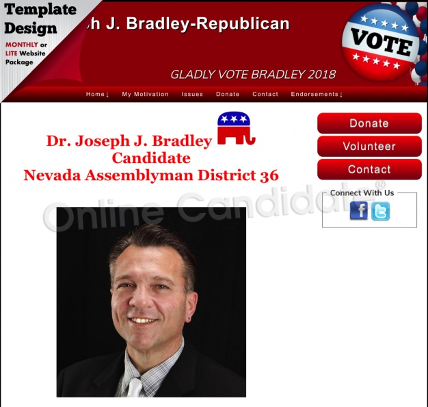 Joseph J. Bradley  Candidate Nevada Assemblyman District 36.jpg