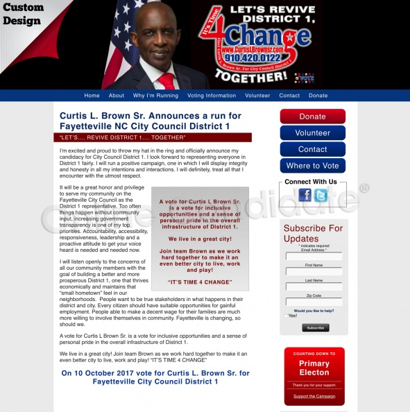 "Curtis L. Brown Sr. Announces a run for Fayetteville NC City Council District 1 "".jpg"