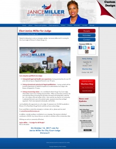 Janice Miller for Judge Division E in Baton Rouge, LA.