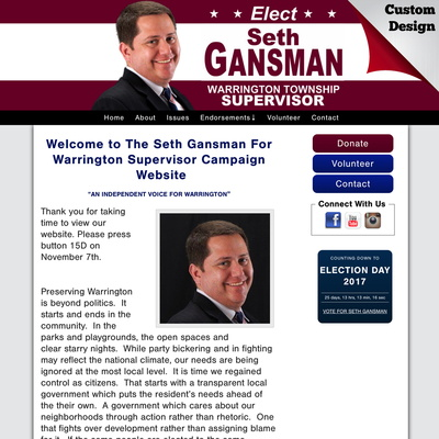 Seth Gansman For Warrington Supervisor