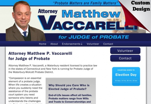 Attorney Matthew P. Vaccarelli for Judge of Probate