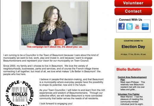 Jacqueline Biollo, MBA Candidate for Councillor, Town of Beaumont