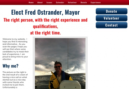 Fred Ostrander Mayor of Vermilion