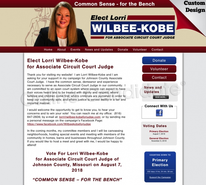 Lorri Wilbee Kobe for Associate Circuit Court Judge