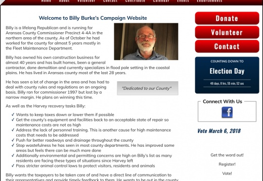 Billy Burke for County Commissioner Precinct 4 4A