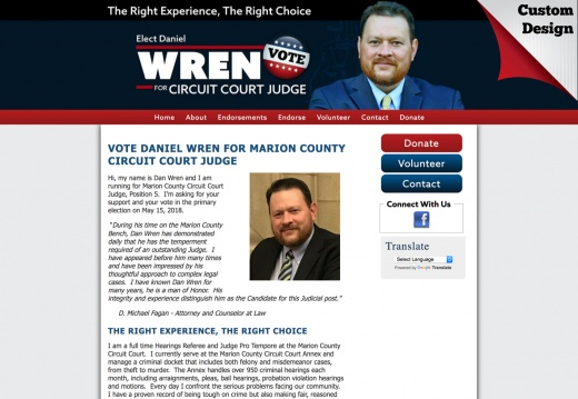 Dan Wren for Marion County Circuit Court Judge