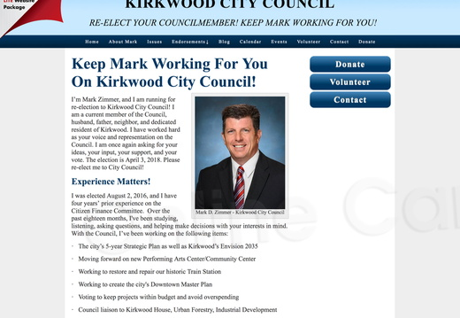 Mark Zimmer to Kirkwood City Council