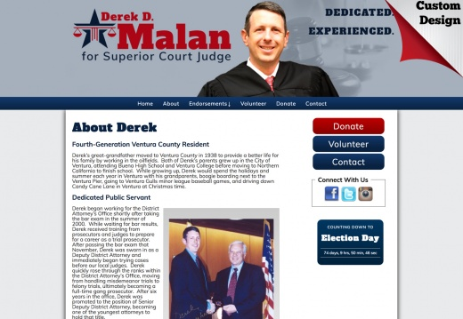 Derek Malan for Judge