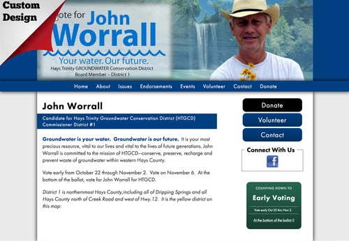 John Worrall Candidate for Hays Trinity Groundwater Conservation District