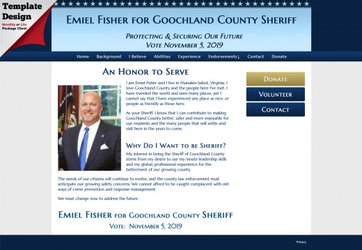 Emiel Fisher for Goochland County Sheriff