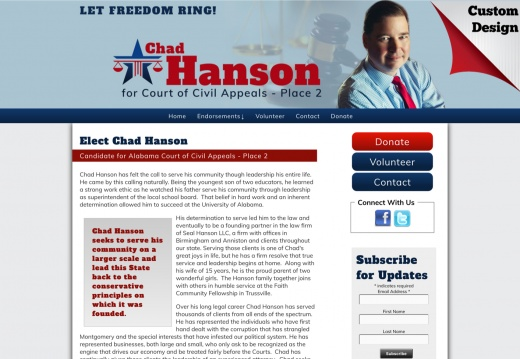 Chad Hanson Candidate for Court of Civil Appeals - Place 2