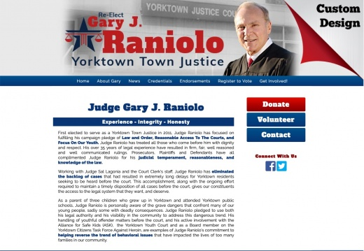 Gary J. Raniolo for Judge