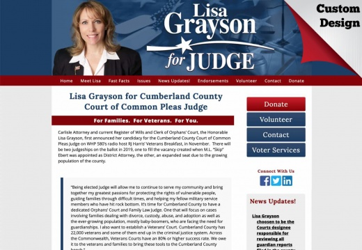 Lisa Grayson for Cumberland County Court of Common Pleas Judge