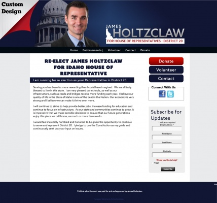 Re-Elect James Holtzclaw for Idaho House of Representative