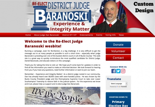 Re-Elect Judge Baranoski