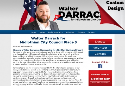 Walter Darrach for Midlothian City Council Place 3