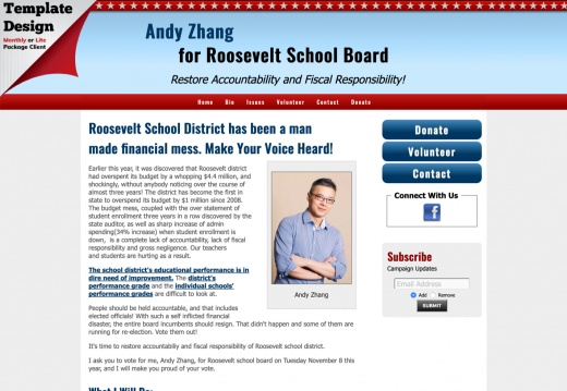 Andy Zhang for Roosevelt School Board