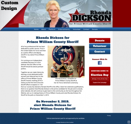 Rhonda Dickson for Prince William County Sheriff