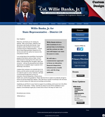 Willie Banks, Jr. for State Representative – District 24