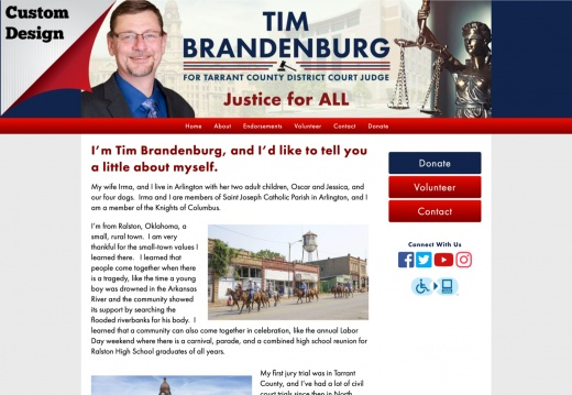 Tim Brandenburg for Tarrant County District Court Judge