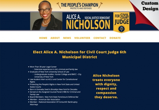 Alice A. Nicholson for Civil Court Judge 6th Municipal District
