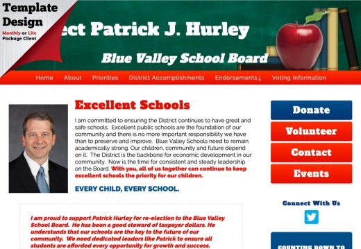 Re-Elect Patrick J. Hurley Blue Valley School Board