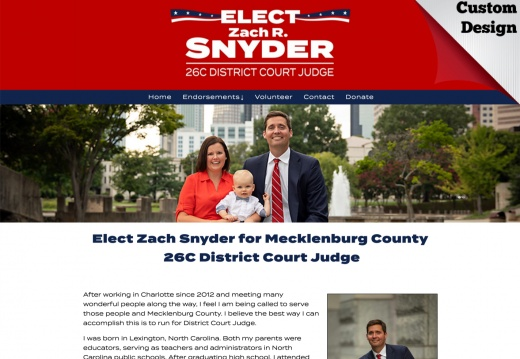 Zach Snyder for Mecklenburg County  26C District Court Judge