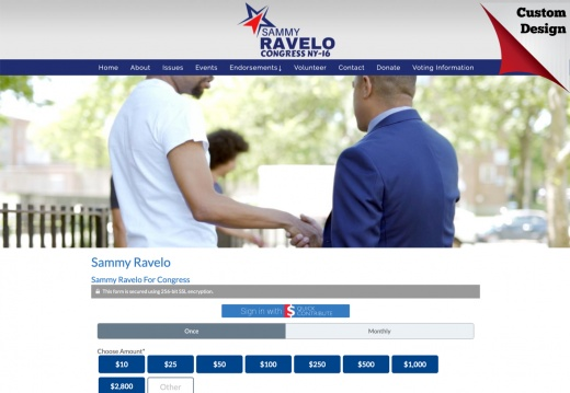 Sammy Ravelo for Congress - NY district 16 DOnation Page