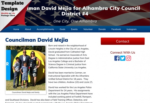David Mejia for Alhambra City Council, District #4