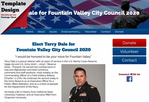 Terry Dale for Fountain Valley City Council