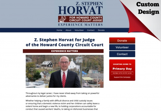 Z Stephen Horvat for Judge of the Howard County Circuit Court
