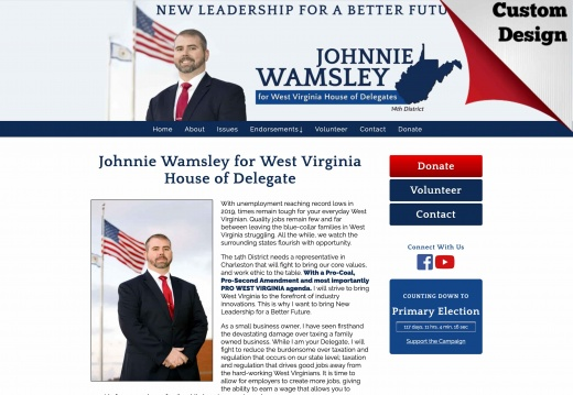 Johnnie Wamsley for West Virginia House of Delegate
