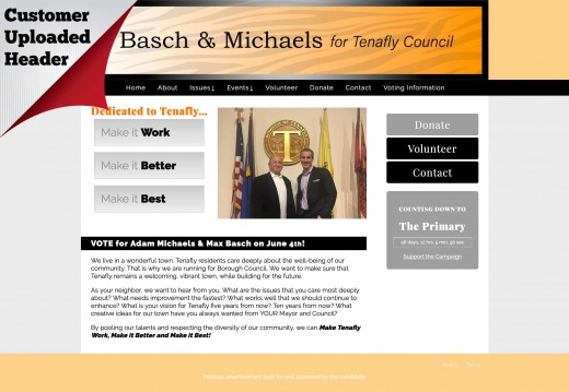 Adam Michaels & Max Basch for Tenafly Town Council