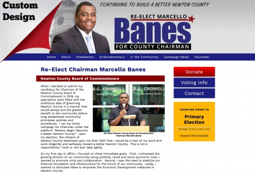Re-Elect Chairman Marcello Banes Newton County Board of Commissioners
