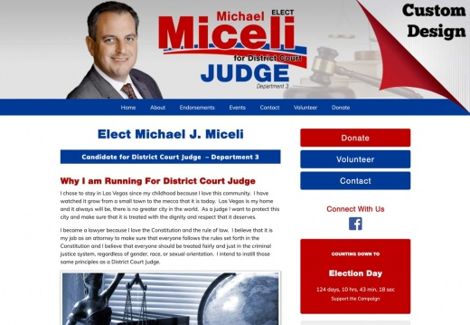 Michael J. Miceli for District Court Judge Department 3