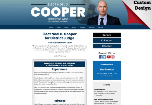 Noel D. Cooper for District Judge - 145th Judicial District Court