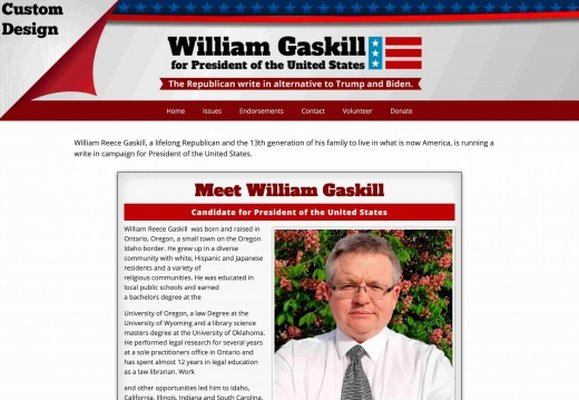 William Gaskill Candidate for President of the United States