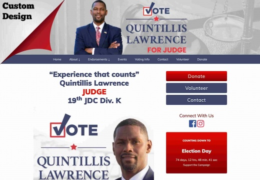 Quintillis Lawrence for Judge