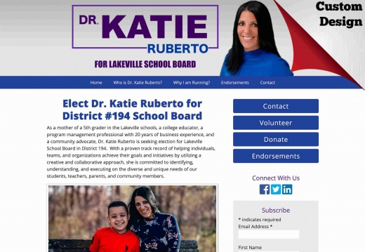 Dr. Katie Ruberto for District #194 School Board