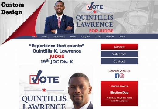Quintillis K. Lawrence for Judge