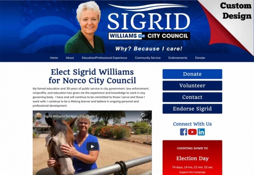 Sigrid Williams for Norco City Council