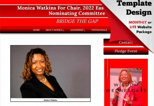 Monica Watkins For Chair, 2022 Eastern Regional Nominating Committee