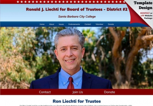 Ronald J. Liechti forSanta Barbara Community College School Board of Trustees - District #2
